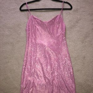 BACKLESS MINI DRESS - PINK - LARGE